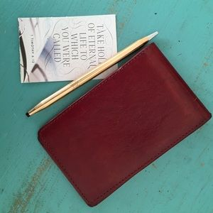 Leather card/pad holder